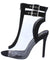 Mindy Black Lucite Peep Toe Cut Out Boot