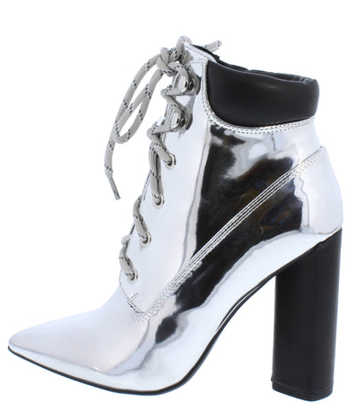 Miss04 Silver Women's Boot - Wholesale Fashion Shoes