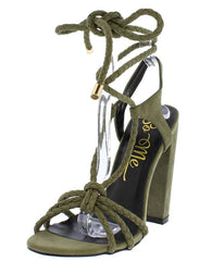 POPPY181 OLIVE WOMEN'S HEEL - Wholesale Fashion Shoes