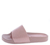 Alison211 Pink Open Toe Mule Slide Sandal - Wholesale Fashion Shoes