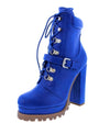 Chloe100 Blue Women's Boot - Wholesale Fashion Shoes