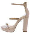 Adele119 Nude Women's Heel - Wholesale Fashion Shoes