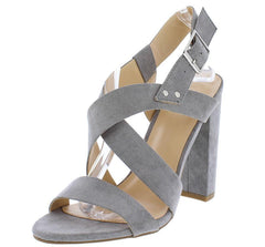MORRIS30 GREY WOMEN'S HEEL - Wholesale Fashion Shoes