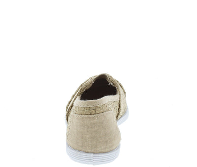 Murphy33k Beige Woven Kids Flat - Wholesale Fashion Shoes