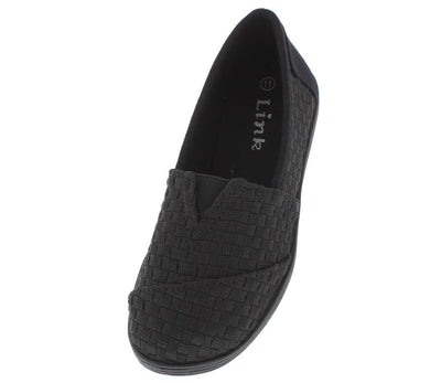 Murphy33k Black Woven Kids Flat - Wholesale Fashion Shoes