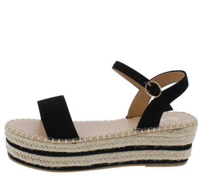 Muta1 Black Women's Wedge - Wholesale Fashion Shoes