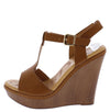 Nassa2 Tan Women's Wedge - Wholesale Fashion Shoes