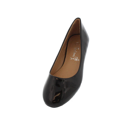 Natalia1g Black Patent Ballet Flat - Wholesale Fashion Shoes