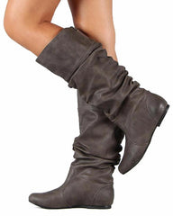 NEO144 GREY PU WOMEN'S BOOT - Wholesale Fashion Shoes