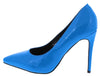 Neon Lights Blue Pointed Toe Stiletto Pump Heel - Wholesale Fashion Shoes