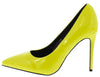 Neon Lights Yellow Pointed Toe Stiletto Pump Heel - Wholesale Fashion Shoes