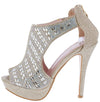 Neri13 Champagne Women's Heel - Wholesale Fashion Shoes