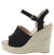 Nicole11 Black Snake Women's Wedge
