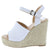 Nicole11 White Snake Women's Wedge