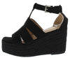 Nicole4 Black Women's Wedge - Wholesale Fashion Shoes