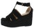 Nicole4 Black Women's Wedge