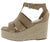 Nicole4 Taupe Women's Wedge