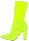 Tammi124 Lime Pointed Toe Pull On Boot - Wholesale Fashion Shoes