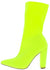 Tammi124 Lime Pointed Toe Pull On Boot