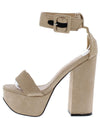 Arianna258 Nude Open Toe Ankle Strap Platform Heel - Wholesale Fashion Shoes