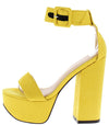 Arianna258 Yellow Women's Heel - Wholesale Fashion Shoes