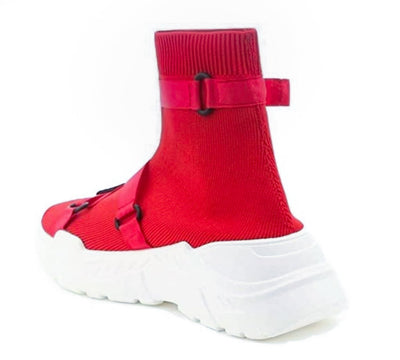 Off Black Red Women's Boot - Wholesale Fashion Shoes