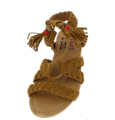OMH8222KS COGNAC KIDS SANDAL - Wholesale Fashion Shoes