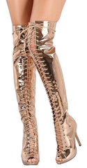 ALICE035 ROSE GOLD WOMEN'S BOOT - Wholesale Fashion Shoes