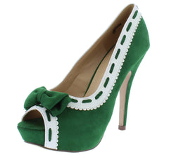 Claire085 Green Woman's Heel - Wholesale Fashion Shoes