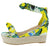 Olson19 Yellow Multi Women's Wedge