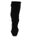 Yvette139 Black Nubuck Multi Strap Diamond Quilted Calf Boot - Wholesale Fashion Shoes