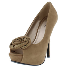 ONYX115 TAUPE WOMEN'S HEEL - Wholesale Fashion Shoes