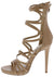 Origin Nude Strappy Open Toe Extended Ankle Stiletto Heel