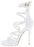 Origin White Strappy Open Toe Extended Ankle Stiletto Heel