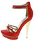 Natasha236 Red Women's Heel