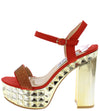 Jessica118 Red Women's Heel - Wholesale Fashion Shoes