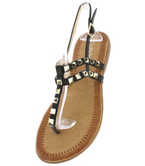 P905 BLACK WOMEN'S SANDAL - Wholesale Fashion Shoes