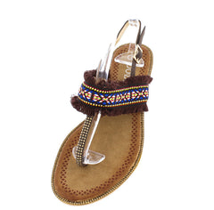 P909 COFFEE WOMEN'S SANDAL - Wholesale Fashion Shoes