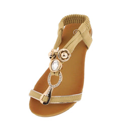 PECKO1524KS BEIGE T-STRAP INFANT SANDAL - Wholesale Fashion Shoes