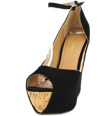 PIPER01 BLACK WOMEN'S HEEL - Wholesale Fashion Shoes