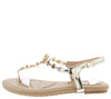 Pk020001 Light Gold Women's Sandal - Wholesale Fashion Shoes