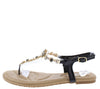 Pk020001 Black Women's Sandal - Wholesale Fashion Shoes