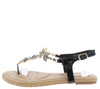 Pk020003 Black Women's Sandal - Wholesale Fashion Shoes