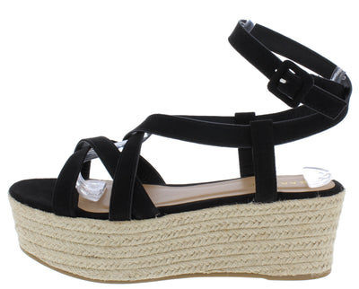 Purchase11 Black Suede Women's Wedge - Wholesale Fashion Shoes