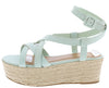 Purchase11 Seafoam Suede Women's Wedge - Wholesale Fashion Shoes