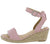 Pacifica Blush Open Toe Cut Out Ankle Strap Espadrille Wedge