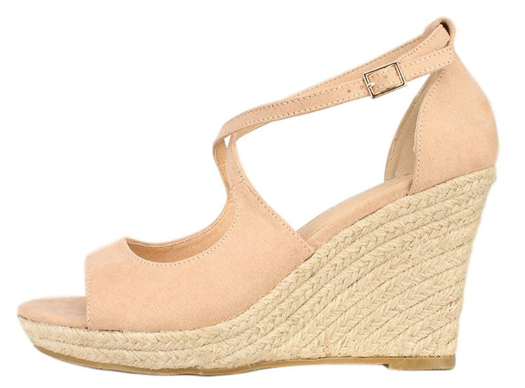 Pamela Camel Suede Cute Fashion Women s Wedges Only  10.88 ... a789651530