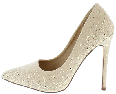 Hudson070 Nude Woman's Heel - Wholesale Fashion Shoes