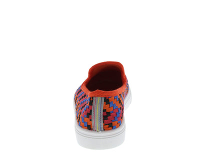 Parson02 Orange Woven Sneaker Flat - Wholesale Fashion Shoes