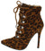 Jessica159 Leopard Lace Up Stiletto Ankle Boot